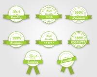 Gröna kvalitetsband Stock Illustrationer