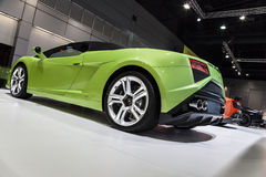 Gröna Lamborghini Gallardo LP560-4 Spyder Arkivbild