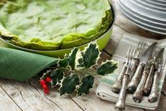 Gröna lasagner Royaltyfria Bilder