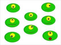 gröna lilla monster royaltyfri illustrationer