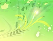 gröna linjer Royaltyfri Fotografi