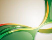 Gröna linjer för volym Royaltyfri Fotografi