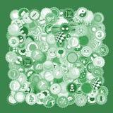Gröna lock Arkivfoto