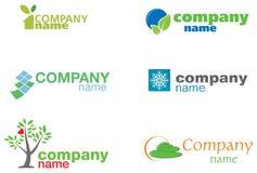 gröna logoer royaltyfri illustrationer