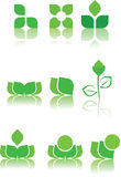 gröna logoprövkopior för design Arkivfoton