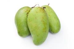 Gröna mango Arkivfoton