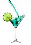 gröna martini Arkivbild