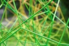 Gröna metallstänger Fotografering för Bildbyråer