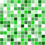 gröna mosaiktegelplattor royaltyfri illustrationer