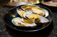 gröna musslor Royaltyfri Foto
