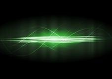 Gröna neonlinjer för vektor Royaltyfria Bilder