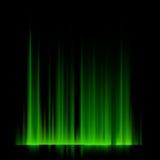 Gröna nordliga ljus, norrsken. EPS 10 Royaltyfria Bilder