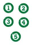 gröna nummer Arkivfoto