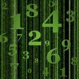 gröna nummer för bakgrund Arkivbilder