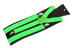 gröna nya suspenders Royaltyfri Foto