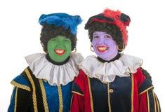 Gröna och purpurfärgade pete royaltyfria foton
