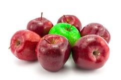 Gröna och röda Apple Royaltyfri Foto