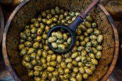 Gröna oliv Arkivbild