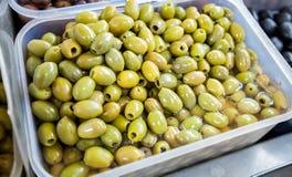 Gröna Olive Healthy Food Arkivfoto