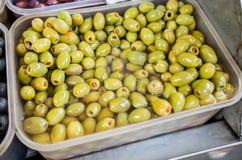 Gröna Olive Healthy Food Fotografering för Bildbyråer
