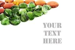 gröna orange stenar Fotografering för Bildbyråer