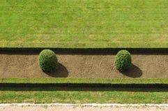 gröna parkrader för detaljer Royaltyfri Fotografi