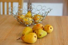 gröna pears Arkivfoto