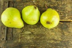 gröna pears Arkivbild