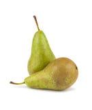 gröna pears mogna två Arkivfoto