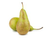 gröna pears mogna två Royaltyfri Fotografi
