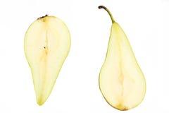 gröna pears två Fotografering för Bildbyråer