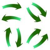 Gröna pilar Arkivfoto