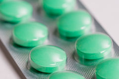 Gröna Pills Royaltyfria Bilder