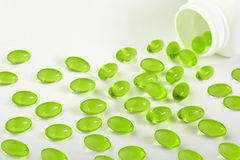 gröna pills Royaltyfri Fotografi