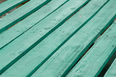 Gröna plankor Arkivbild
