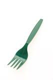 Gröna plast-gafflar Fotografering för Bildbyråer