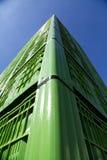 Gröna plast- spjällådor 02 Royaltyfri Foto