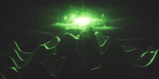 Gröna polygonal berg Royaltyfri Fotografi