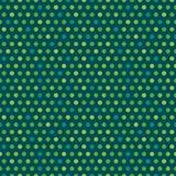 Gröna prickar för gullig sömlös bakgrund för vektor irländsk royaltyfri illustrationer