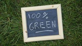 100 gröna procent Arkivbild