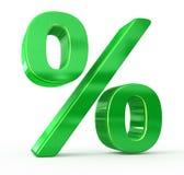 gröna procent försäljningstecken Fotografering för Bildbyråer