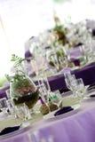 gröna purpura tabeller Royaltyfri Fotografi