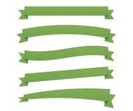 Gröna retro band royaltyfri illustrationer