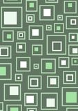gröna retro fyrkanter för bakgrund Arkivbilder