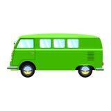 Gröna retro skåpbil illustration Royaltyfria Foton