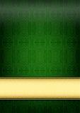 Gröna retro skyler över brister Arkivbild