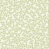 gröna seamless sprigs för bakgrund Arkivbild