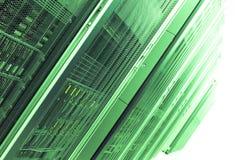gröna serveror royaltyfria bilder
