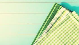 Gröna servetter för dag för St Patrick ` s Fotografering för Bildbyråer