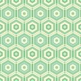 Gröna sexhörningar upprepar vektormodellbakgrund royaltyfri illustrationer